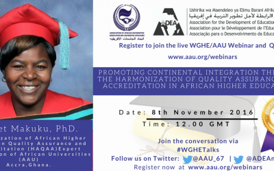 5th Webinar Presenter – Dr. Violet Makuku