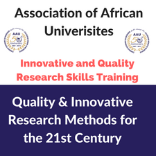 Training Course on Quality and Innovative Research Methods for the 21st Century