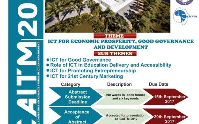 Call for Papers ICAITM 2017