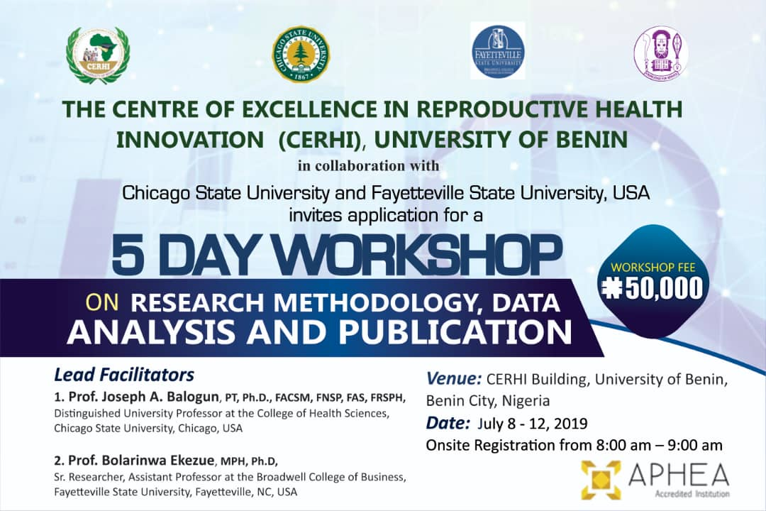 Call for participation: Workshop on Research Methodology, Data